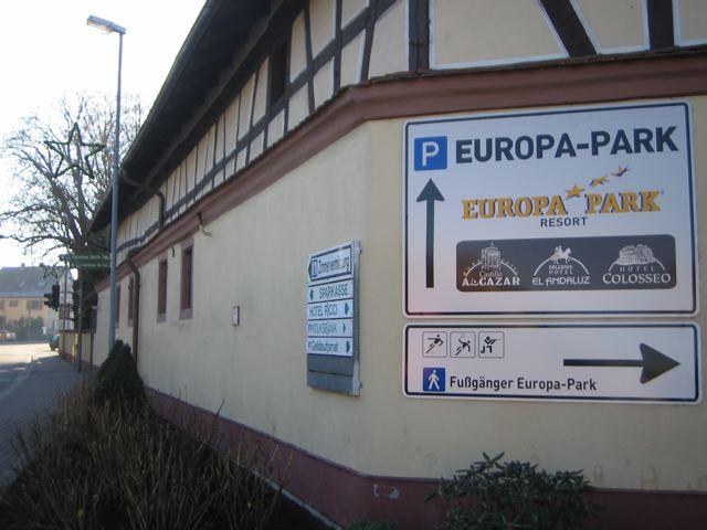 Beschilderung Rust Europapark